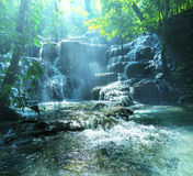 Waterfall in Mexico Stock Images