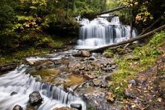 Waterfall In Michigan�s Upper Peninsula Royalty Free Stock Photo