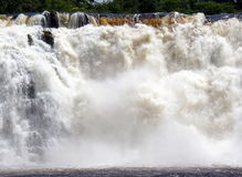 Waterfall. The mighty river Carrao falling on the Canaima lagoon, in the Gran Sabana Venezuela Stock Image
