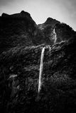 Waterfall in Milford Sound, New Zealand Royalty Free Stock Photo