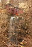 Waterfall Mill Stock Images