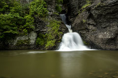 Waterfall - Mine Kill Falls - Catskill Mountains, New York Royalty Free Stock Images