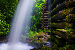 Waterfall at Mingus Mill,  Great Smoky Mountains National Park, Stock Photography
