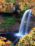 Waterfall in Minnehaha park. Waterfall in Minneahaha park, minneapolis area, fall season Royalty Free Stock Photo