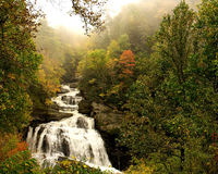 Waterfall in the Mist Royalty Free Stock Photography