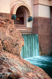 Waterfall on modern building Royalty Free Stock Image