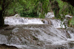Waterfall at the Monasterio de Piedra Stock Images
