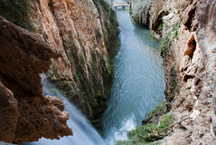 Waterfall. In Monasterio de Piedra, Aragon, Spain Stock Image