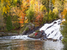 Waterfall at Mont-Tremblant. Small waterfall at Mont-Tremblant area stock photography