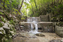 Waterfall in Monte Cucco park Royalty Free Stock Image