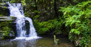 Waterfall on Moravia stock image