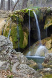 Waterfall with Moss Stock Photography