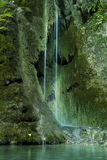 Waterfall on mossy background Royalty Free Stock Photos