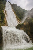 Waterfall in motion, Beautiful Velo de la Novia, Chiapas. Travel Stock Image