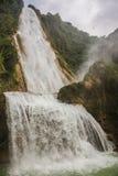 Waterfall in motion, Beautiful Velo de la Novia, Chiapas. Travel. Water in motion, Chiapas Jungle. Mexico Stock Image