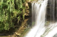 Waterfall, motion blurred royalty free stock image