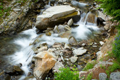 Waterfall at Mount Rainier Royalty Free Stock Photo