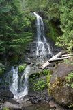 Waterfall at Mount Rainier National Park Stock Photo