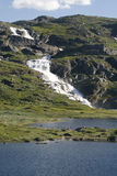 Waterfall in the mountain Royalty Free Stock Photography