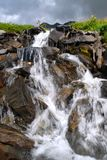 Waterfall in the mountain. Little waterfall in the mountain Royalty Free Stock Image