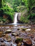 Waterfall. At mountain Royalty Free Stock Photos
