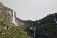 Waterfall in the mountain. A lot of waterfall in the mountain Stock Photo