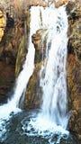 Waterfall. Mountain with waterfall stock image