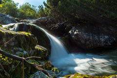 Waterfall. In mountain Stock Image