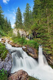 Waterfall in mountain creek Royalty Free Stock Image
