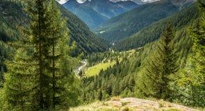 Waterfall mountain landscape. Rabbi Valley, Trentino Alto Adige, Italy Royalty Free Stock Photos