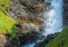 Waterfall mountain landscape. Rabbi Valley, Trentino Alto Adige, Italy Stock Photography