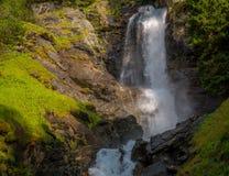 Waterfall mountain landscape. Rabbi Valley, Trentino Alto Adige, Italy Stock Photos