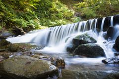 Waterfall mountain landscape. Selective focus Royalty Free Stock Photography