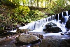 Waterfall mountain landscape. Selective focus Stock Photos
