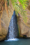 Waterfall in mountain oasis Chebika, Tunisia, Africa Royalty Free Stock Photo