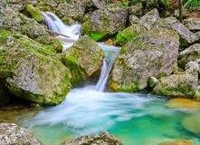 Waterfall in mountain rainforest Royalty Free Stock Image