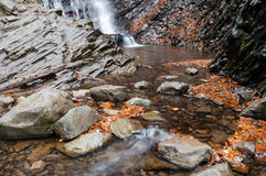 A waterfall on a mountain river Stock Photo