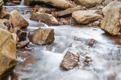 A waterfall on a mountain river Royalty Free Stock Photography