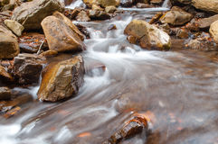 A waterfall on a mountain river Royalty Free Stock Images