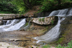 Waterfall on a mountain river Royalty Free Stock Photography
