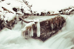 Waterfall mountain river Royalty Free Stock Photography