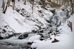Waterfall mountain river Stock Images