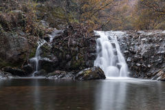 Waterfall in the mountain river Royalty Free Stock Images