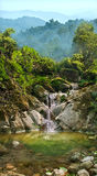 Waterfall on the mountain river Royalty Free Stock Photo