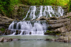 Waterfall on a mountain river Royalty Free Stock Photo