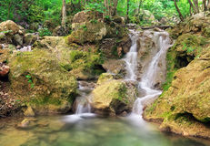 Waterfall. Mountain river. Royalty Free Stock Images