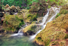 Waterfall. Mountain river. Stock Photography