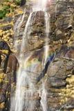 Waterfall in mountain rocks Royalty Free Stock Image