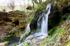 Waterfall in the mountain in spring Royalty Free Stock Photo