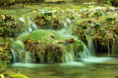 Waterfall, mountain stream. Black River. Crimea, Ukraine Stock Photo